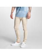 Criminal Damage Skinny Jeans Ripper bezowy