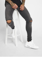 Criminal Damage Skinny Jeans Ripper czarny