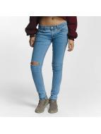 Criminal Damage Skinny Jeans Raw niebieski