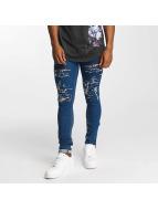 Criminal Damage Skinny Jeans Camden niebieski