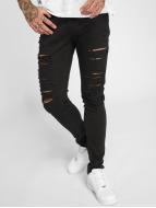 Criminal Damage Skinny Jeans Camden schwarz