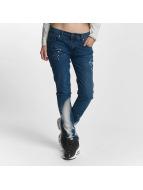 Criminal Damage Straight Fit Jeans Lapis blau