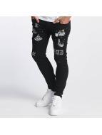 Criminal Damage Straight Fit Jeans Pyramid svart