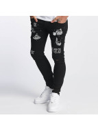 Criminal Damage Straight fit jeans Pyramid zwart