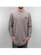 Criminal Damage T-Shirt manches longues Sev gris
