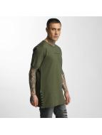 Criminal Damage t-shirt Lace olijfgroen