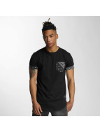 Criminal Damage T-Shirt Side Curve Pocket schwarz
