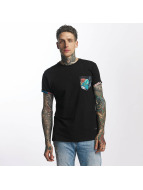 Criminal Damage T-Shirt Meadow Pocket schwarz