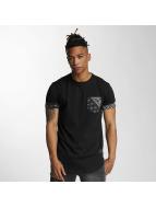 Criminal Damage T-shirt Side Curve Pocket svart