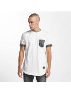 Criminal Damage T-Shirt Side Curve Pocket weiß