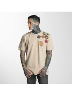 Criminal Damage T-shirtar Insignia beige