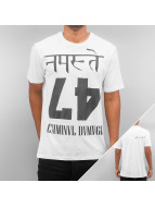 Criminal Damage T-Shirts Namaste beyaz