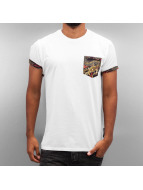 Criminal Damage T-Shirty Dragon Pocket bialy