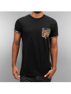 Criminal Damage T-Shirty Dragon Pocket czarny