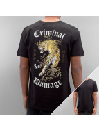 Criminal Damage T-Shirty Tiger czarny