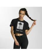 Criminal Damage T-Shirty Aperture Crop czarny