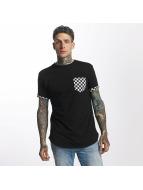 Criminal Damage T-skjorter Chequer Pocket svart