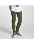 Criminal Damage Ripper Skinny Jeans Olive/Olive