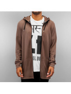 Criminal Damage Zip Hoodie Drop braun
