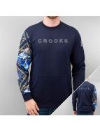 Crooks & Castles Pullover Climb blau