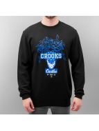 Crooks & Castles Pullover Brigand schwarz