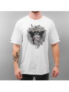 Crooks & Castles T-Shirt Interlaced Medusa blanc