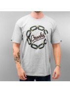 Crooks & Castles T-Shirt Chain Cordage grau