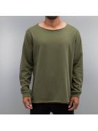 Cyprime Пуловер Wide Round Neck оливковый