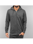 Basic Zip Hoody Anthraci...