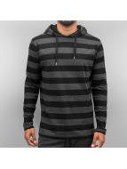 Cyprime Bluzy z kapturem Stripes czarny