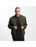 Cyprime Quilted Bomber Jacket Olive
