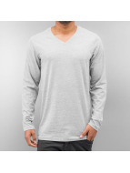 Cyprime Camiseta de manga larga V-Neck gris