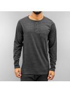 Cyprime Camiseta de manga larga Placket gris
