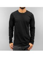 Cyprime Camiseta de manga larga Roundneck negro