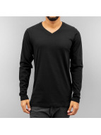 Cyprime Camiseta de manga larga V-Neck negro