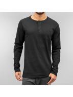 Cyprime Camiseta de manga larga Placket negro