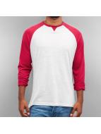 Cyprime Camiseta de manga larga Raglan rojo