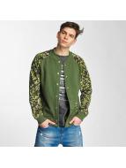 Cyprime College Jackets Fleece oliwkowy