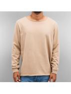 Cyprime Pullover Wide Round Neck beige