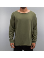Cyprime Pullover Wide Round Neck olive