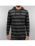 Cyprime Sweat à capuche Stripes noir