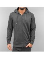 Cyprime Sweat à capuche zippé Basic gris