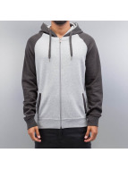 Cyprime Sweat capuche zippé Two Tone gris