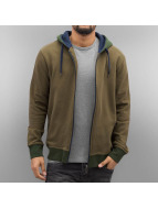 Cyprime Sweat capuche zippé Basic olive