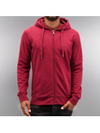 Cyprime Sweat capuche zippé Basic rouge