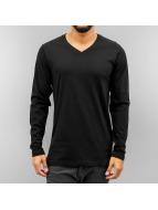 Cyprime T-Shirt manches longues V-Neck noir