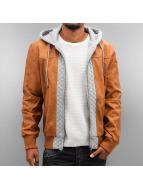 Dangerous DNGRS Кожаная куртка Gero коричневый