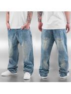 Dangerous DNGRS Baggy jeans Stitch blauw