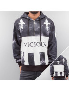 Dangerous DNGRS Hoodies con zip Vicious nero