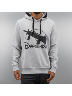 Dangerous DNGRS Hoody World Uzi grijs
